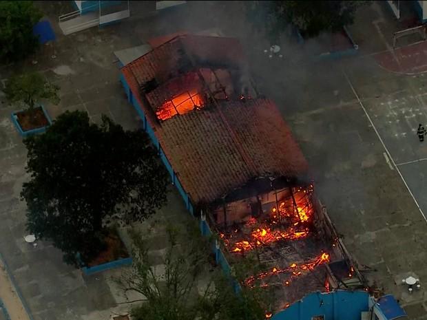 Rebelião em Franco da Rocha (Foto: Reprodução/GloboNews)