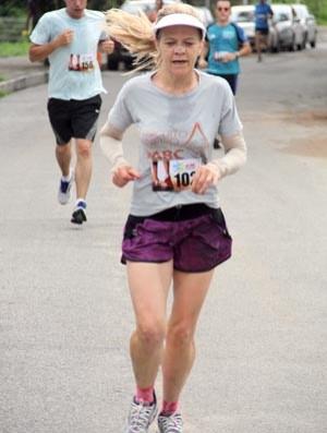 Margarida Gomes , corrida, corredora, Itapecerica, MG , Circuito Mineiro de corrida de Rua ABC (Foto: Davi Raposo/Arquivo pessoal)