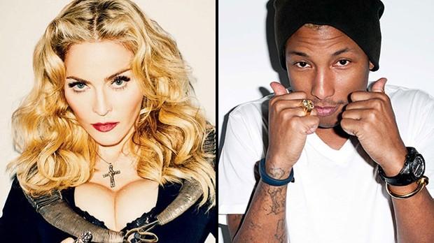 Madonna x Pharrell (Foto: Divulgao)