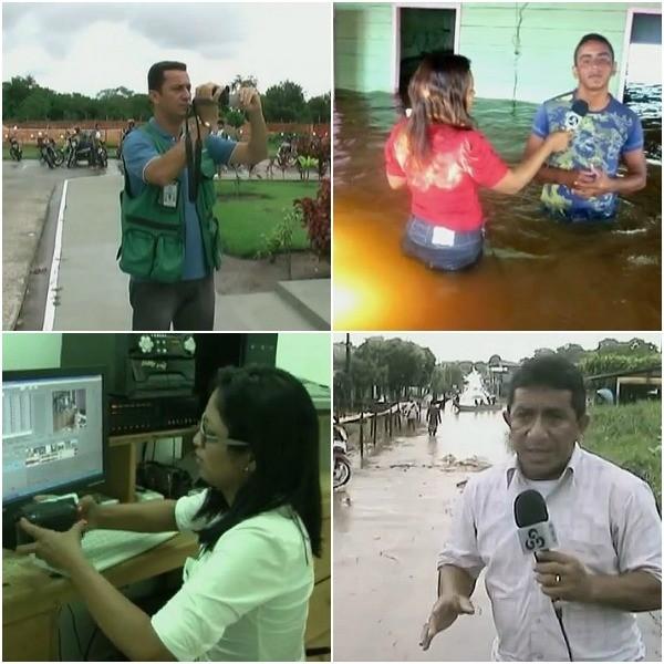 Videorrepórteres da Tv Amazonas, fazem parte dos 40 anos (Foto: Bom dia Amazônia)