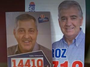 De partidos diferentes, irmãos se uniram em campanha e foram eleitos vereadores em Santo Ângelo (RS) (Foto: Reprodução/RBS TV)