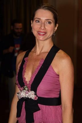 Letícia Spiller em estreia de peça na Zona Sul do Rio (Foto: Anderson Borde/ Ag. News)