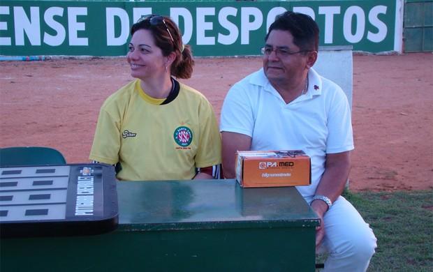 Fernanda Costa, prefeita de Santa Cruz, atuou como médica em Assu x Santa Cruz-RN (Foto: Alex Santos/Divulgação)