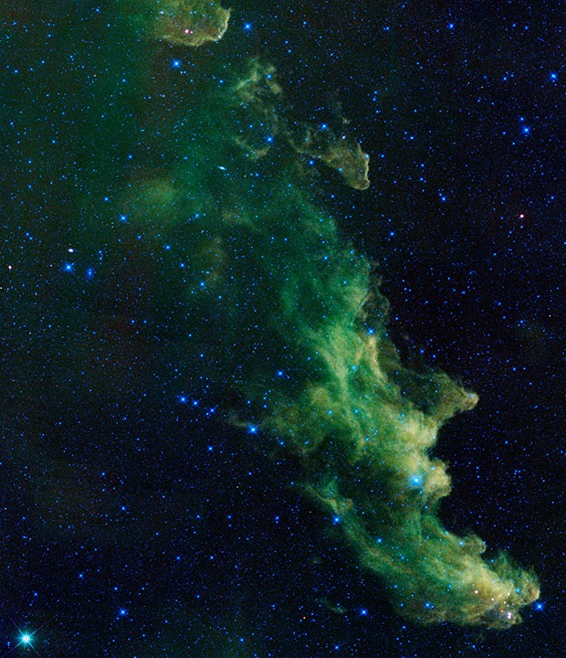 Nebulosa Cabeça da Bruxa, a centenas de anos-luz da Terra (Foto: Nasa/JPL-Caltech/AFP)
