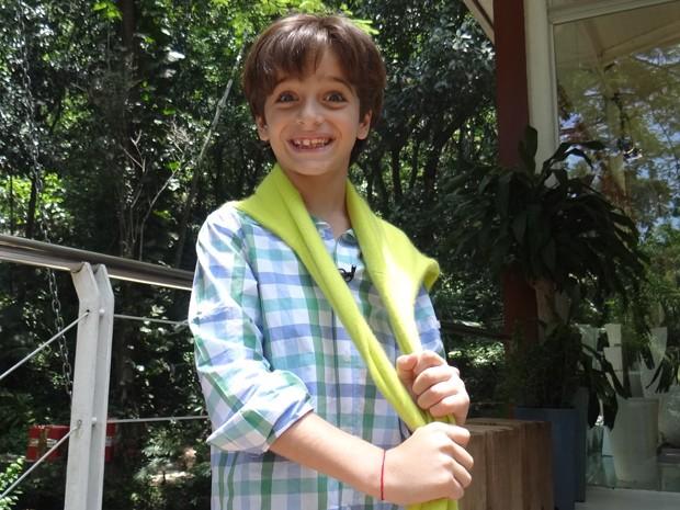 Ferinha! Francesco Yunes, de sete anos, já tem um livro publicado (Foto: Mais Você / TV Globo)