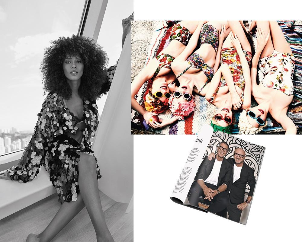 Taís Araújo, Stefano Gabbana e Domenico Dolce são os entrevistados do mês. Á dir., linda imagem de Ellen Von Unwerth (Foto: Fabio Bartelt (MONSTER PHOTO) / divulgação / divulgação taschen)