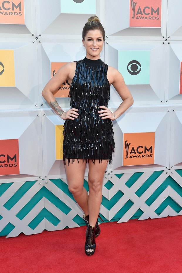 Cassadee Pope no ACM Awards (Foto: AFP)