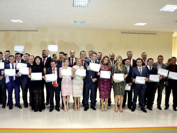 Políticos eleitos foram diplomados pelo TRE do Amapá (Foto: Abinoan Santiago/G1)
