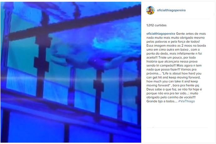 Desabafo Thiago Pereira natação Pan Toronto (Foto: Reprodução / Instagram)