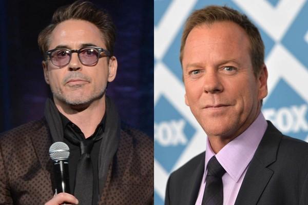 Robert Downey Jr. e Kiefer Sutherland dividiram o aluguel por três anos no começo da carreira deles. (Foto: Getty Images)