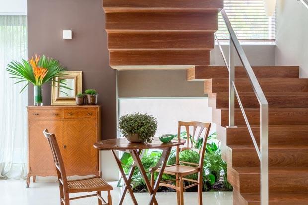 Projeto-Andrea-sala-escada (Foto: André Nazareth )