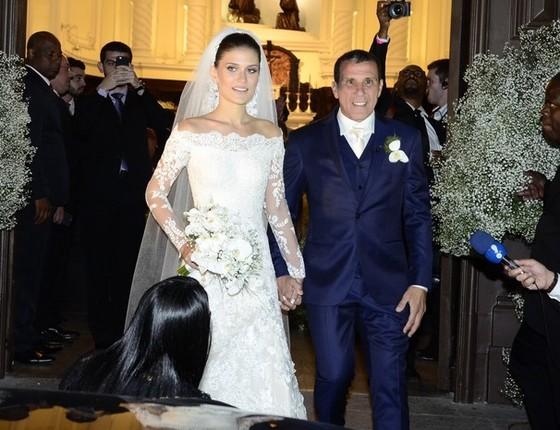 O casamento do ator com Alice Souto durou um ano e meio. Apesar do término, eles seguem amigos (Foto: Globo.com)