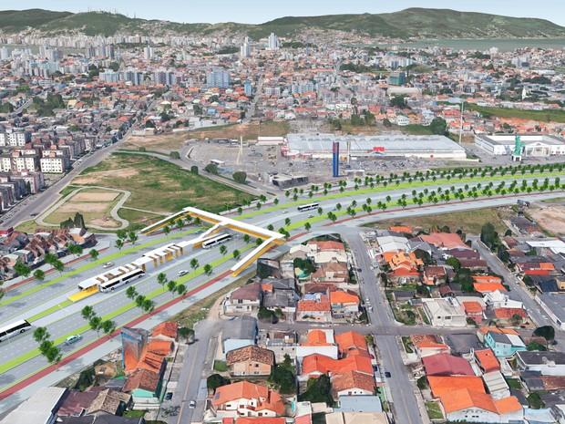 Uma das proposta do BRT é para a Via Expressa (Foto: Secretaria de Estado do Planejamento/Divulgação )