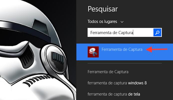 Buscando e abrindo a Ferramenta de Captura do Windows (Foto: Reprodução/Marvin Costa)
