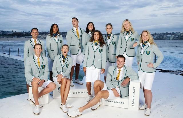 Uniformes dos atletas australianos (Foto: Divulgação)