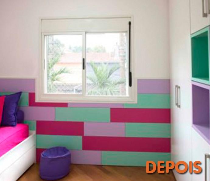 Depois: nichos organizam a bagunça e cores garantem o ar alegre do quarto infantil (Foto: Divulgação)