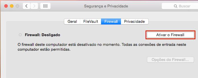 Ativando o Firewall do OS X (Foto: Reprodução/Edivaldo Brito)