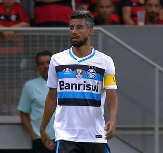 Flamengo x Grêmio Primeira Liga Léo Moura (Foto: Reprodução)