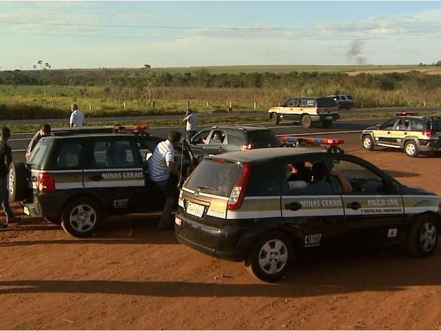 Policiais de Minas Gerais e São Paulo tentam localizar foragido da Justiça que atropelou delegado (Foto: Reprodução EPTV)