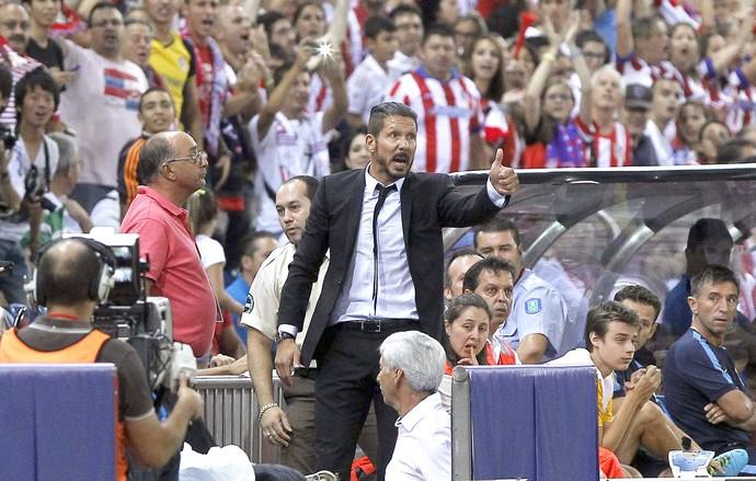 Simeone Atlético de Madrid e Real Madrid (Foto: Agência EFE)