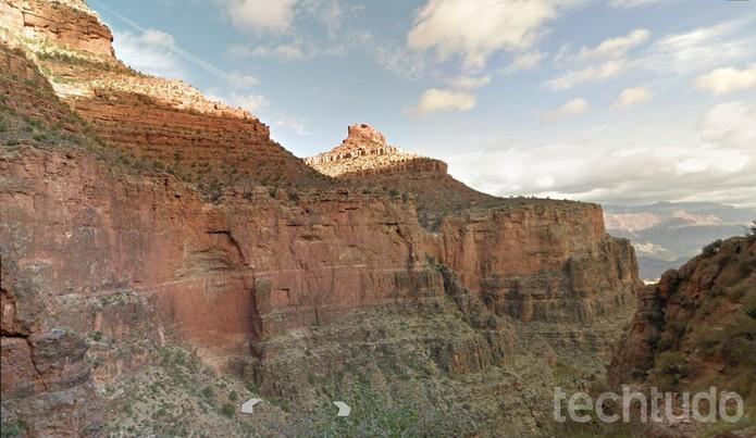 Trilha pelo Grand Canyon no Google Street View (Foto: Reprodução/Barbara Mannara)