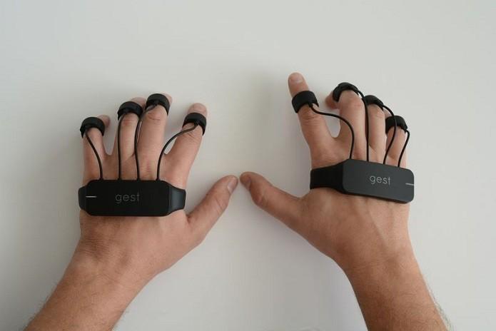 Gest se conecta ao PC por Bluetooth (Foto: Reprodução/Kickstarter)