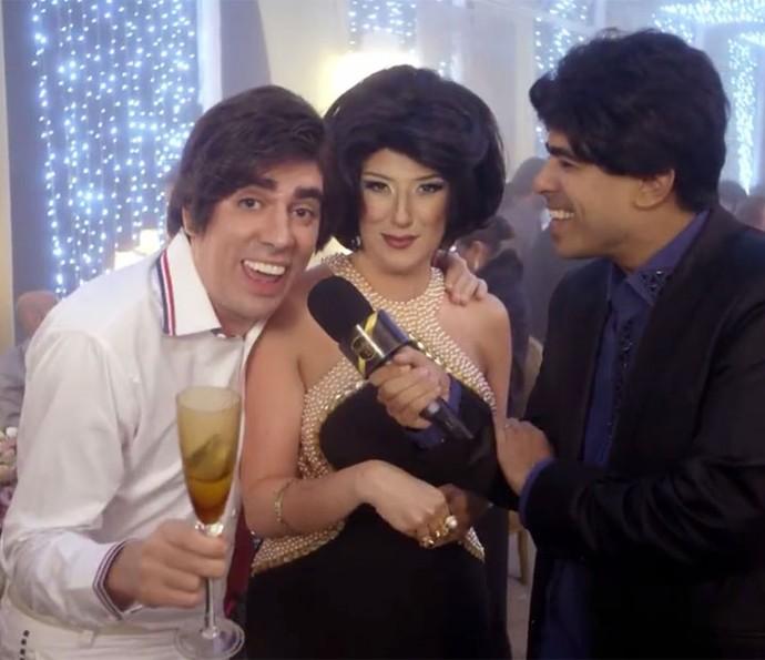 Tony Karlakian apresenta sua esposa no Balada Vip (Foto: TV Globo)