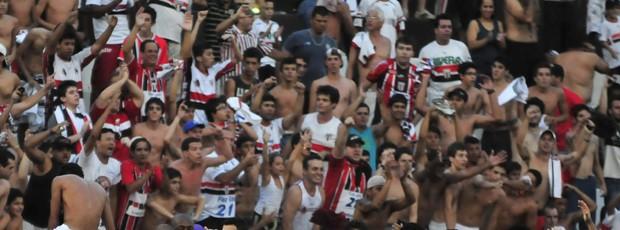 Botafogo-SP comemora presença na elite do futebol paulista em 2013 (Foto: Rodrigo Villalba / Memory Press)