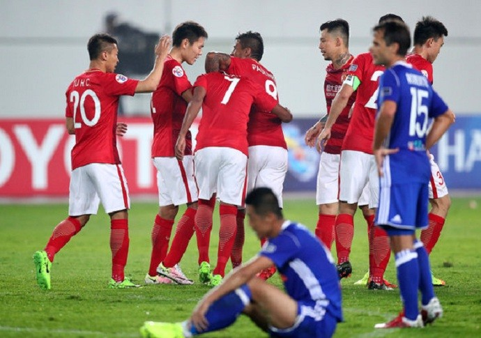 Guangzhou goleia o Eastern na Liga dos Campeões da Ásia (Foto: Osports)