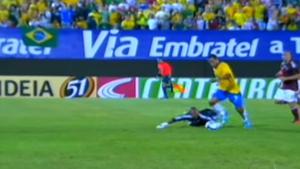Brasil 0 x 0 Venezuela, eliminatórias da Copa do Mundo 2010, estádio Morenão, Campo Grande (Foto: Reprodução/TV Globo)