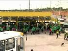 Greve dos rodoviários paralisa 100% os ônibus em Manaus
