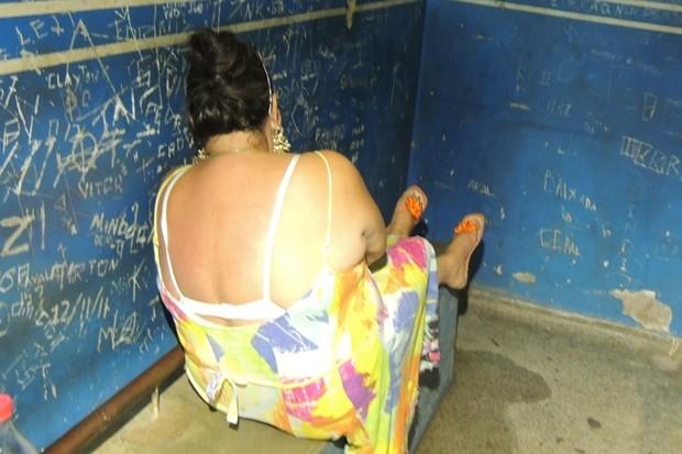 Vilma Martins presa em Goiânia (Foto: Gabriela Lima/G1)