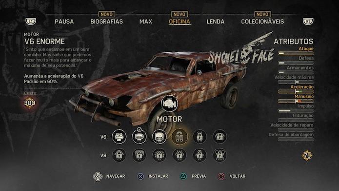 Mad Max: aprenda a personalizar o veículo Magnum Opus (Foto: Reprodução/VIctor Teixeira)