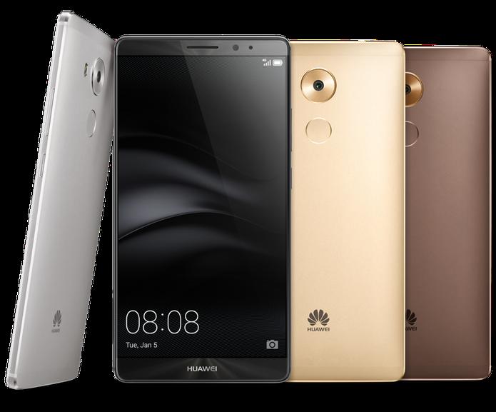 Huawei Mate 8 possui bordas finíssimas e corpo metálico (Foto: Divulgação/Huawei)