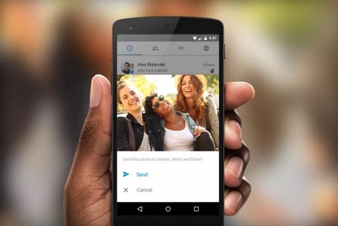 Photo Magic, novo recurso de reconhecimento facial do Facebook Messenger (Foto: Divulgação)
