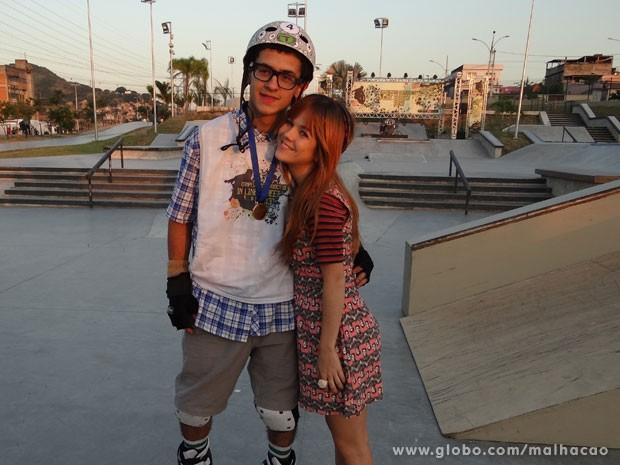Gnt, pode existir casal nerd mais fofo que estes dois?!  (Foto: Malhação/TV Globo)