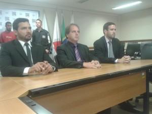 Delegados Jurandir, Renato e Bruno (Foto: Michelly Oda/G1)