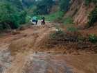 Deslizamentos de  terra atingem BA-026 (Donato Neto/ Amargosa News)