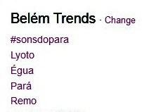 Twitter Sons do Pará 2014 (Foto: Reprodução/Twitter)