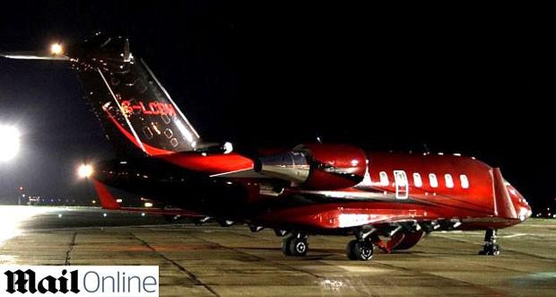 jatinho Bombardier CL-600 Hamilton F1 (Foto: Reprodução / Daily Mail)