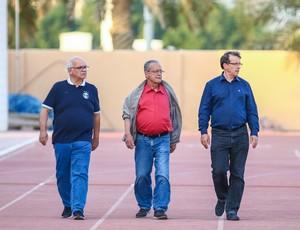 Romildo Bolzan presidente Saul Berdichevski diretor de futebol Odorico Roman vice de futebol Grêmio