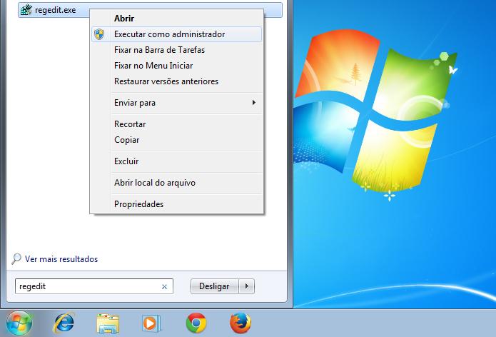 Executando o registro do Windows pelo menu Iniciar (Foto: Reprodução/Edivaldo Brito)