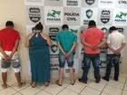 Cinco pessoas são presas durante operação contra tráfico de drogas