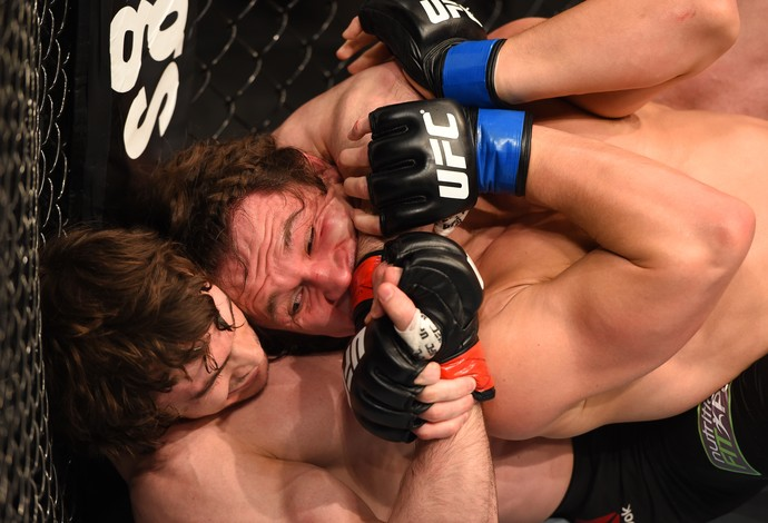Olivier Aubin-Mercier David Michaud UFC 186  (Foto: Getty Images)