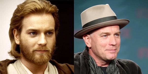 Ewan McGregor em 2002 e 2017 (Foto: Divulgao)
