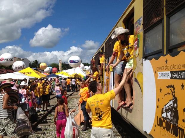 Locomotiva do Forró (Foto: Taiguara Rangel/G1)