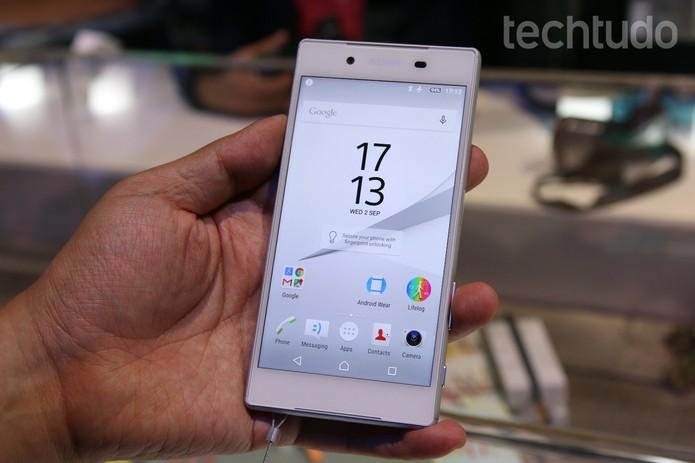 Sony Xperia Z5 é apresentado durante a IFA 2015  (Foto: Fabrício Vitorino/TechTudo)