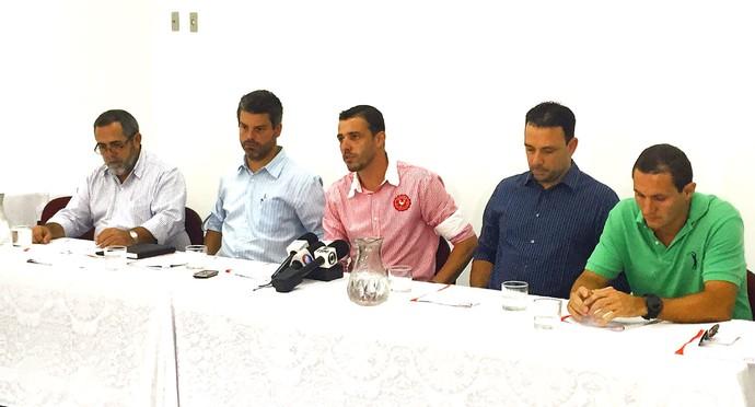 Noroeste, Paulo Godoy, Estevan Pegoraro, Emílio Brumati, Rafael Padilha, Rodrigo Mosca Gomes (Foto: Luiz Malavolta Jr. / EC Noroeste)