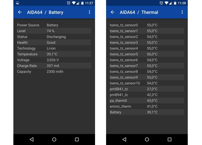 App mostra tudo sobre a bateria e temperatura de vários componentes (Foto: Reprodução/Paulo Alves)