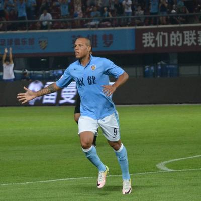 Luis Fabiano Tianjin Quanjian (Foto: Reprodução/Sina.com)